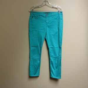 Big Star Teal/Turquoise ALEX Mid Rise Crop Size 29